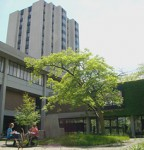 vanier residence with courtyard